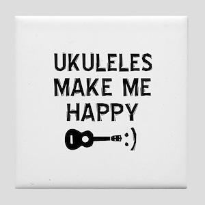 Ukukeles musical instrument designs Tile Coaster