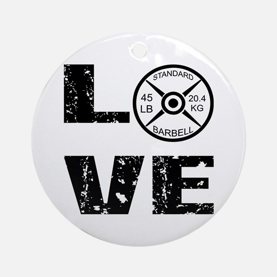 Love Lifting Weights Ornament (Round)