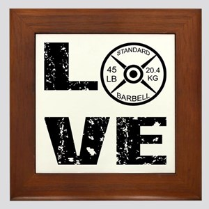 Love Lifting Weights Framed Tile