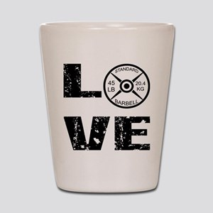 Love Lifting Weights Shot Glass