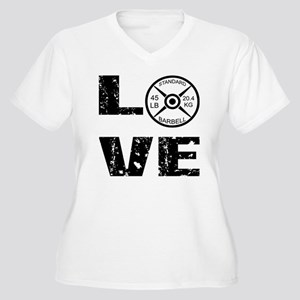 Love Lifting Weights Women's Plus Size V-Neck T-Sh