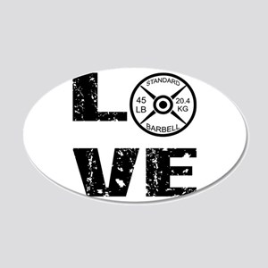 Love Lifting Weights 20x12 Oval Wall Decal
