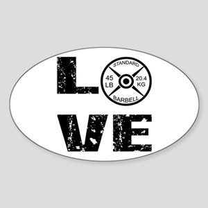 Love Lifting Weights Sticker (Oval)