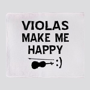 Violas musical instrument designs Throw Blanket
