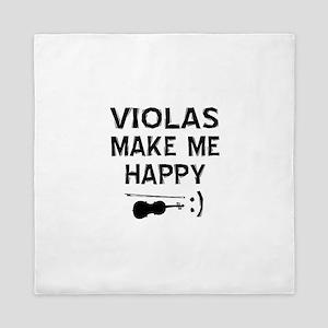 Violas musical instrument designs Queen Duvet