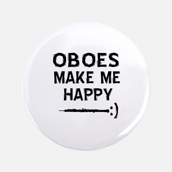 """Oboes musical instrument designs 3.5"""" Button"""