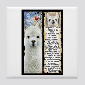 LLAMA Rules LLAMA LOVER Tile Coaster