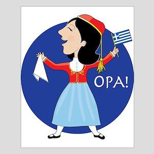 Greek Lady Dancing Posters
