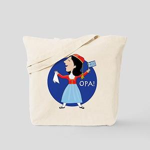 Greek Lady Dancing Tote Bag