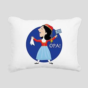 Greek Lady Dancing Rectangular Canvas Pillow