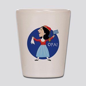 Greek Lady Dancing Shot Glass
