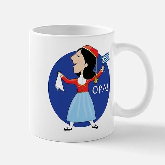 Greek Lady Dancing Mug