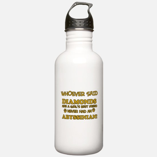 Abyssinian cat vector designs Water Bottle