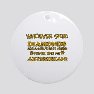 Abyssinian cat vector designs Ornament (Round)
