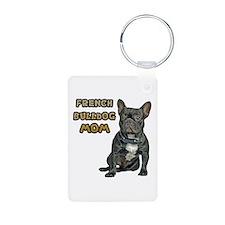 French Bulldog Mom Aluminum Photo Keychain