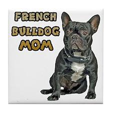 French Bulldog Mom Tile Coaster