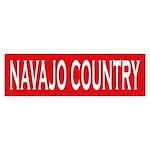 Navajo Country Bumper Sticker