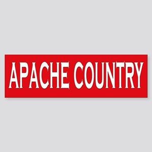 Apache Country Bumper Sticker