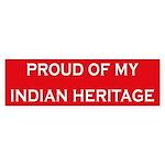 Indian Heritage Pride Bumper Sticker