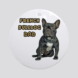 French Bulldog Dad Ornament (Round)