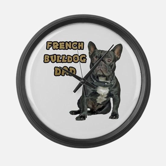 French Bulldog Dad Large Wall Clock