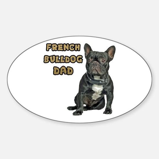 French Bulldog Dad Sticker (Oval)