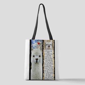 LLAMA Rules LLAMA LOVER Polyester Tote Bag