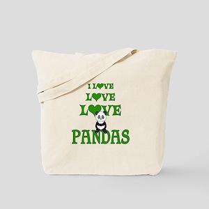 Love Love Pandas Tote Bag