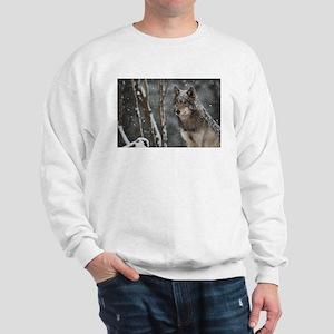Snowy Lone Wolf Sweatshirt
