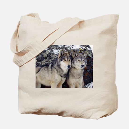 Wolf Couple Tote Bag