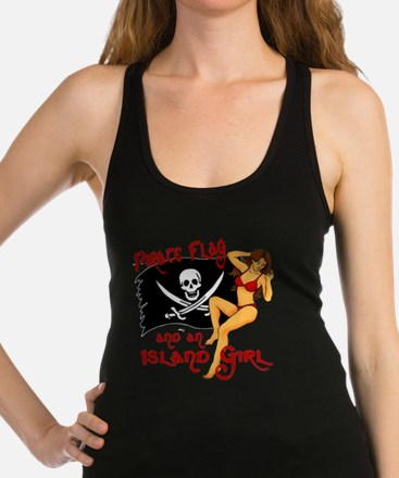 pirate girl Racerback Tank Top