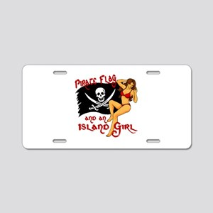 pirate girl Aluminum License Plate