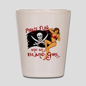 pirate girl Shot Glass