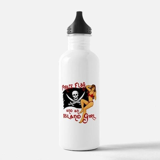 pirate girl Water Bottle