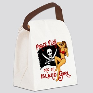 pirate girl Canvas Lunch Bag