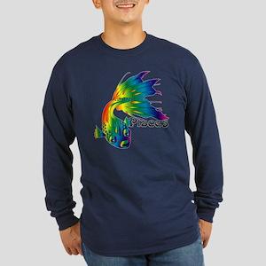 Whimsical Pisces Long Sleeve Dark T-Shirt