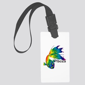 Whimsical Pisces Large Luggage Tag