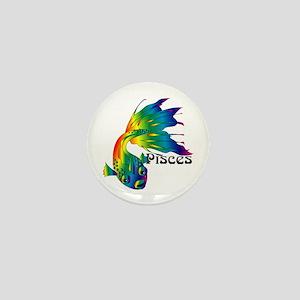 Whimsical Pisces Mini Button