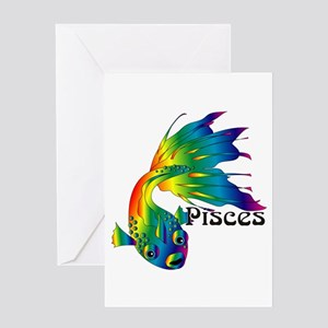 Whimsical Pisces Greeting Card