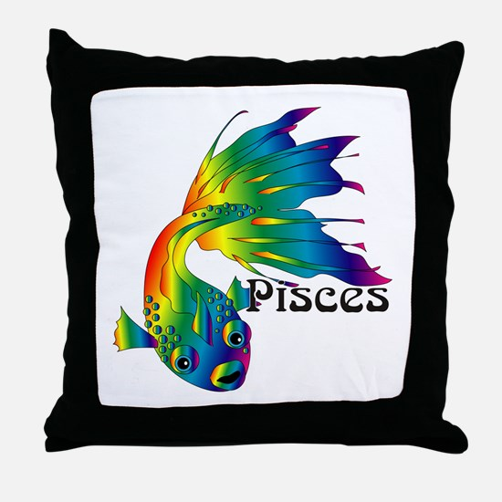Whimsical Pisces Throw Pillow