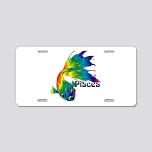 Whimsical Pisces Aluminum License Plate