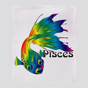 Whimsical Pisces Throw Blanket