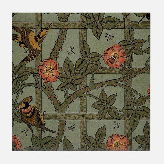 William Morris Trellis Design Tile Coaster