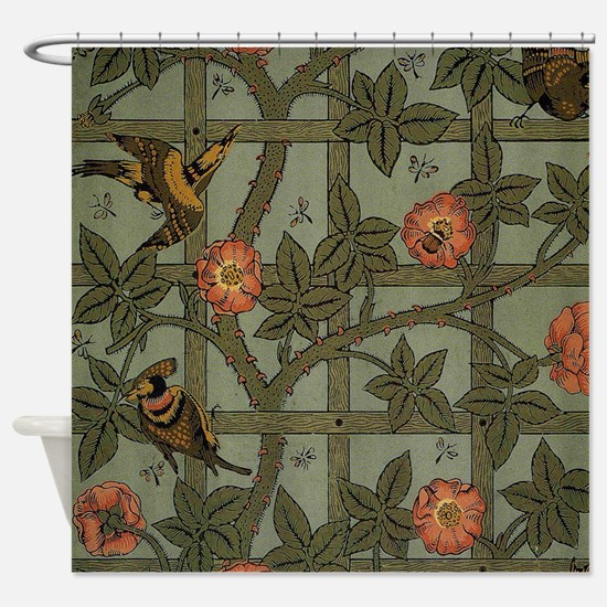 William Morris Trellis Design Shower Curtain