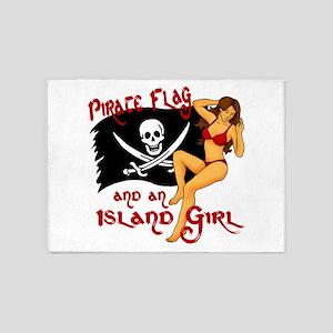 pirate girl 5'x7'Area Rug