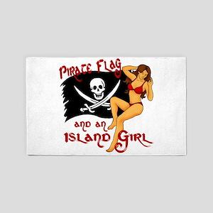 pirate girl 3'x5' Area Rug