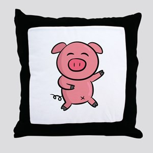 Cute and Happy Pink Piggy with Sparkles of Light T