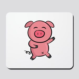 Cute and Happy Pink Piggy with Sparkles of Light M