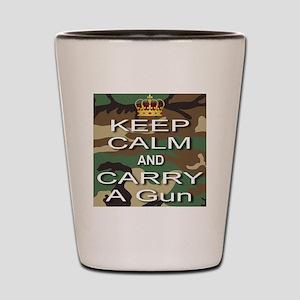 Keep Calm and Carry A Gun Shot Glass