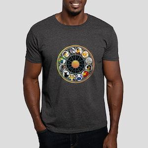 Whimsical Zodiac Wheel Dark T-Shirt